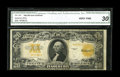 Large Size:Gold Certificates, Fr. 1187* $20 1922 Gold Certificate Star CGA Very Fine 30....