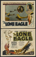 "Movie Posters:War, The Lone Eagle (Universal, 1927). Title Lobby Card (11"" X 14"") andLobby Card (11"" X 14""). Drama. Starring Raymond Keane, B... (Total:2)"