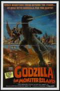 "Movie Posters:Science Fiction, Godzilla on Monster Island (Toho, 1972). One Sheet (27"" X 41"").Science Fiction. Starring Hiroshi Ishikawa, Yuriko Hishimi, ..."