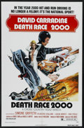 "Movie Posters:Cult Classic, Death Race 2000 (New World Pictures, 1975). One Sheet (27"" X 41"").Cult Classic. Starring David Carradine, Sylvester Stallon..."