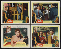 "The Assassin (United Artists, 1953). Title Lobby Card (11"" X 14"") and Lobby Cards (3) (11"" X 14""). M..."