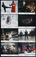"Movie Posters:Action, Superman II (Warner Brothers, 1980). Lobby Card Set of 8 (11"" X14""). Action. Starring Gene Hackman, Christopher Reeve, Ned ...(Total: 8)"