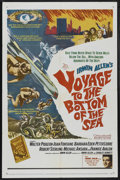 "Movie Posters:Adventure, Voyage to the Bottom of the Sea (20th Century Fox, 1961). One Sheet(27"" X 41""). Adventure. Starring Walter Pidgeon, Joan Fo..."