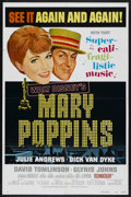 "Movie Posters:Fantasy, Mary Poppins (Buena Vista, R-1973). One Sheet (27"" X 41"") Style B.Fantasy. Starring Julie Andrews, Dick Van Dyke, David Tom..."