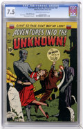 Golden Age (1938-1955):Horror, Adventures Into The Unknown #20 (ACG, 1951) CGC VF- 7.5 Cream tooff-white pages....
