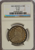 Bust Half Dollars: , 1823 50C Broken 3 F15 NGC. O-101. NGC Census: (1/32). PCGSPopulation (1/42). Numismedia Wsl. Price for NGC/PCGS coin in ...