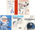 Baseball Collectibles:Publications, 1960-63 New York Yankees Official Yearbooks Lot of 5....