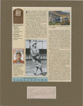 Autographs:Letters, Eddie Collins Signed And Matted Cut Signature. ...
