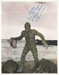 Movie/TV Memorabilia:Autographs and Signed Items, Pete Dunn Signed Monster of Piedras Blancas Photo....