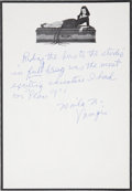 "Movie/TV Memorabilia:Autographs and Signed Items, Maila Nurmi ""Vampira"" Signed Letter...."
