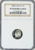 Proof Roosevelt Dimes: , 2000-S 10C Silver PR70 Ultra Cameo NGC. NGC Census: (714/0). PCGSPopulation (141/0). Numismedia Wsl. Price for NGC/PCGS c...