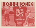 "Movie Posters:Sports, Bobby Jones in How I Play Golf (Warner Brothers, 1931). Lobby CardSet of 4 (11"" X 14"") Episode 5 -- ""The Medium Irons."". ... (Total:4 Items)"