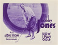 "Movie Posters:Sports, Bobby Jones in How I Play Golf (Warner Brothers, 1931). Lobby CardSet of 4 (11"" X 14"") Episode 6 -- ""The Big Irons."". ... (Total: 4Items)"