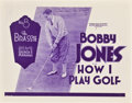 "Movie Posters:Sports, Bobby Jones in How I Play Golf (Warner Brothers, 1931). Lobby Card Set of 4 (11"" X 14"") Episode 8 -- ""The Brassie."". ... (Total: 4 Items)"