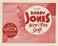 "Bobby Jones in How I Play Golf (Warner Brothers, 1931). Lobby Card Set of 4 (11"" X 14"") Episode 7 -- ""The..."