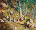 Fine Art - Painting, American:Contemporary   (1950 to present)  , PAUL LAURITZ (Canadian, 1889-1975). Forest Interior. Oil oncanvas. 21 x 24-1/2 inches (53.3 x 62.2 cm). Signed lower ri...
