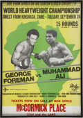 "Boxing Collectibles:Memorabilia, 1974 Ali vs. Foreman ""Rumble in the Jungle"" Fight Poster. ..."