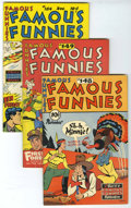 Golden Age (1938-1955):Miscellaneous, Famous Funnies #148, 149 and 184 File Copies Group (Eastern Color, 1946-49) Condition: Average VF+.... (Total: 6 Comic Books)