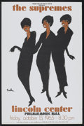 "Movie Posters:Rock and Roll, The Supremes Concert (1965). Tour Poster (25"" X 38""). Rock andRoll. ..."
