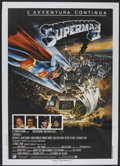 "Movie Posters:Action, Superman II (Warner Brothers, 1981). Italian 2 - Folio (39"" X 55"").Action...."