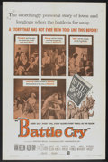 "Movie Posters:War, Battle Cry (Warner Brothers, R-1960). One Sheet (27"" X 41"").War...."