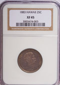Coins of Hawaii: , 1883 25C Hawaii Quarter XF45 NGC. NGC Census: (18/749). PCGSPopulation (71/1265). Mintage: 500,000. (#10987)...