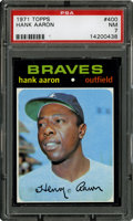Baseball Cards:Singles (1970-Now), 1971 Topps Hank Aaron #400 PSA NM 7....