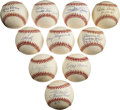 Autographs:Baseballs, Baseball Stars Single Signed Baseballs Lot of 10....