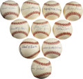 Autographs:Baseballs, Negro League Stars Single Signed Baseballs Lot of 10....