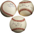 Autographs:Baseballs, Sam Lacy Single Signed Baseballs Lot of 3....