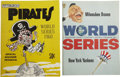 Autographs:Others, 1958, 1960 Signed World Series Programs Lot of 2....