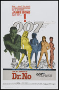 "Movie Posters:James Bond, Dr. No (United Artists, 1962). One Sheet (27"" X 41""). James Bond...."