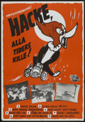 "Movie Posters:Animated, Woody Woodpecker Festival Poster (Universal International, 1952).Swedish One Sheet (27.5"" X 39.5""). Animated...."