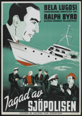 "Movie Posters:Adventure, S.O.S. Coast Guard (A.B. Svea Film, 1941). Swedish One Sheet (27.5""X 39.5""). Adventure...."