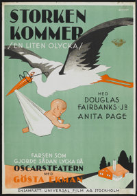 "Little Accident (Universal, 1930). Swedish One Sheet (27.5"" X 39.5""). Comedy"