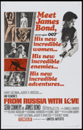 "Movie Posters:James Bond, From Russia with Love (United Artists, 1964). One Sheet (27"" X 41"") Style A. James Bond...."