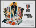 "Movie Posters:James Bond, Live and Let Die (United Artists, 1973). International Half Sheet (22"" X 28""). James Bond...."