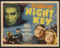 "Movie Posters:Crime, Night Key (Universal, 1937). Title Lobby Card and Lobby Cards (3)(11"" X 14""). Crime.... (Total: 4 Items)"