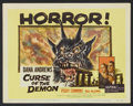 """Movie Posters:Horror, Curse of the Demon (Columbia, 1957). Title Lobby Card and Lobby Cards (6)(11"""" X 14""""). Horror.... (Total: 7 Items)"""