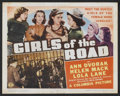 "Movie Posters:Bad Girl, Girls of the Road (Columbia, 1940). Title Card and Lobby Cards (7)(11"" X 14""). Bad Girl.... (Total: 8 Items)"