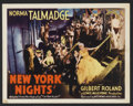 """Movie Posters:Crime, New York Nights (United Artists, 1929). Title Lobby Card (11"""" X14""""). Crime...."""