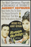 "Movie Posters:Romance, Roman Holiday (Paramount, R-1962). Poster (40"" X 60""). Romance...."