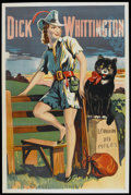 "Movie Posters:Animated, Dick Whittington (1920s-1930s). British Theater Poster (40"" X 60""). . ..."