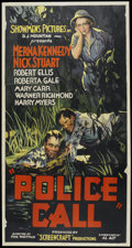 "Movie Posters:Crime, Police Call (Showmens Pictures, 1933). Three Sheet (41"" X 81"").Crime...."