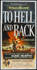 "Movie Posters:War, To Hell and Back (Universal, 1955). Three Sheet (41"" X 81"").War...."