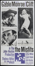 "Movie Posters:Drama, The Misfits (United Artists, 1961). Three Sheet (41"" X 81"").Drama...."