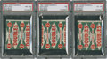 Baseball Cards:Lots, 1951 Topps Red Back One Cent Wax Packs PSA-Graded Group Lot of3....