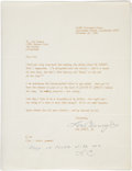 Movie/TV Memorabilia:Autographs and Signed Items, Lon Chaney Jr. Signed Letter....