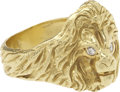 Movie/TV Memorabilia:Memorabilia, Sammy Davis Jr.'s Gold Lion Ring....