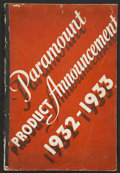 "Movie Posters:Miscellaneous, Paramount Exhibitor Book (Paramount, 1932-1933). Exhibitor Book(12"" X 17""). Miscellaneous...."